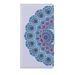 Samsung Galaxy J1 PU Lederen Wallet Book hoesjes Flower