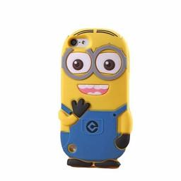 Ipod Touch 5 (G) en 6 (G) siliconen bescherm hoesje Minion Two Eyes Licht blauw