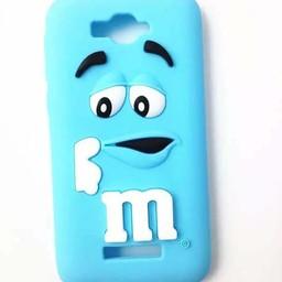 Alcatel One Touch Pop C7 siliconen hoesjes M&M Blauw