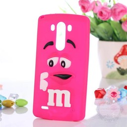 LG Optimus G3 siliconen hoesjes M&M Rose