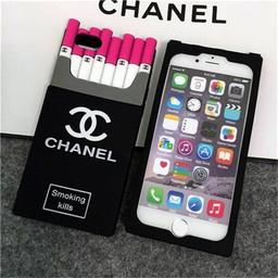 Iphone 5 (S) Siliconen hoesje Sigaretten doosje Zwart - rose