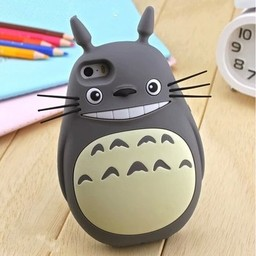Iphone 4(S) siliconen 3D hoesje My Neighbor Totoro Grijs
