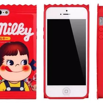 Iphone 5 (S) Siliconen hoesje Milky Red