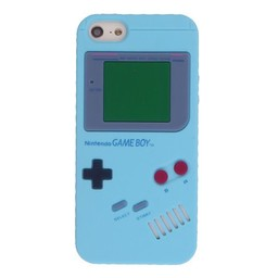 Iphone 5 (S) Retro GameBoy Licht Blauw
