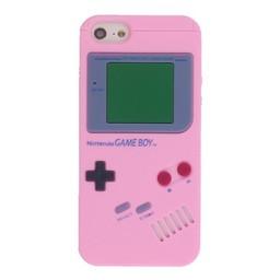 Iphone 5 (S) Siliconen hoesje Retro GameBoy Licht rose