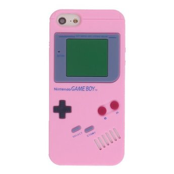 Iphone 5 (S) Siliconen hoesje Retro Game Boy Licht rose