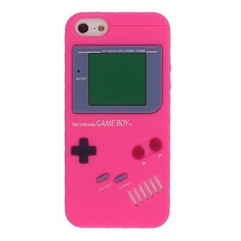 Iphone 5 (S) Siliconen hoesje Retro GameBoy rose