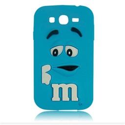 Samsung Galaxy Grand Neo siliconen hoesje M&M Blauw
