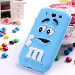 Samsung Galaxy J7 siliconen hoesjes M&M Blauw