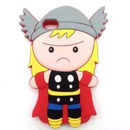 Iphone 5(S) en 5C Siliconen hoesje Cartoon superhelden Wickie de Viking