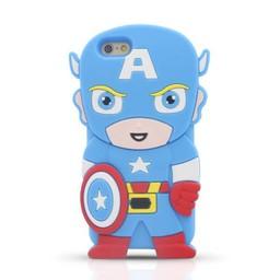 Iphone 6 (4,7 inch) siliconen hoesje Superhelden Captain America