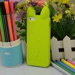 Iphone 4(S) siliconen hoesje Koko Cat Groen