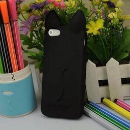 Iphone 4(S) siliconen hoesje Koko Cat Zwart