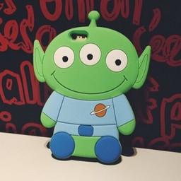 Iphone 4(S) siliconen hoesje Toy Story Alien