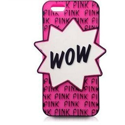 Iphone 6 (4,7 inch) siliconen hoesje PINK WOW Rose