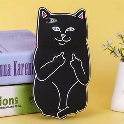Iphone 6 (4,7 inch) Siliconen hoesje Black Cat
