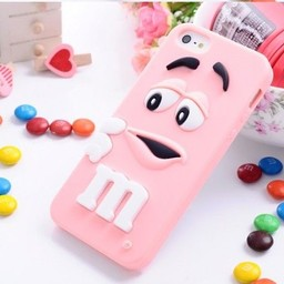 Iphone 5 (S) Siliconen hoesje M&M Rose