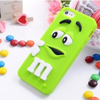 Iphone 5 (S) Siliconen hoesje M&M groen