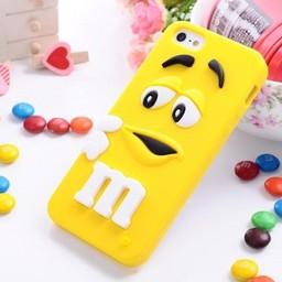 Iphone 5 (S) Siliconen hoesje M&M Geel