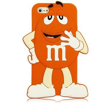 Iphone 5 (S) en 5 C Siliconen hoesje M&M Oranje Boy