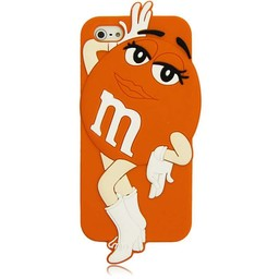 Iphone 5 (S) en 5 C M&M Oranje Girl