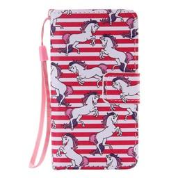LG Leon 4G LTE PU Wallet Book hoesje Unicorn