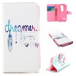 LG Leon 4G LTE PU Wallet Book hoesje Dreamer