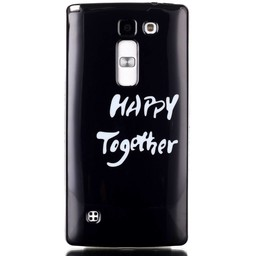LG Spirit 4G LTE siliconen TPU Hoesje Happy Together