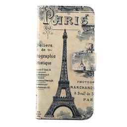 Samsung Galaxy S4 mini PU Lederen Wallet hoesje Paris