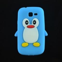 Samsung Galaxy Trend Lite Siliconen hoesje Pinguin Blauw