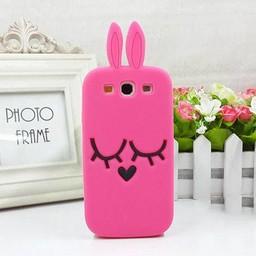 Samsung Galaxy S3 Siliconen hoesjes Pink Bunny