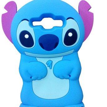 Samsung Galaxy J1 (2015) Siliconen hoesjes Stitch blauw
