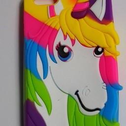 Iphone 5 (S) en 5C Siliconen hoesje Unicorn Coulours 2