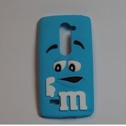 LG Leon 4G LTE siliconen hoesje M&M blauw