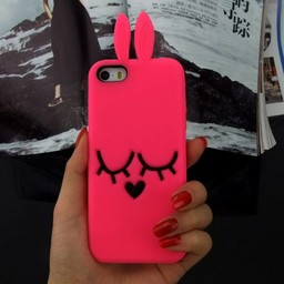 Iphone 4(S) siliconen hoesje Bunny Rose