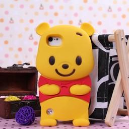 Ipod Touch 5 (G) en 6(G) siliconen bescherm hoesje Winnie The Pooh