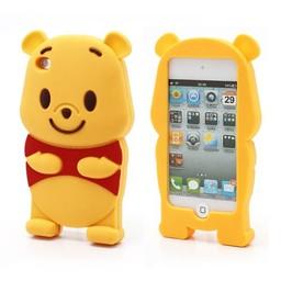 Ipod Touch 4 (G) siliconen bescherm hoesje Winnie The Pooh