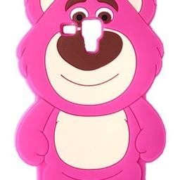 Samsung Galaxy S3 mini Siliconen hoesje Pink Bear
