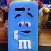 Alcatel One Touch Pop C9 siliconen hoesjes M&M Blauw