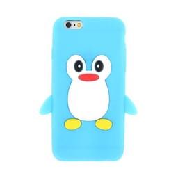 Iphone 6 (4,7 inch) siliconen hoesje Pinquin Blauw
