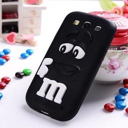 Samsung Galaxy S3 Siliconen hoesje M&M Zwart