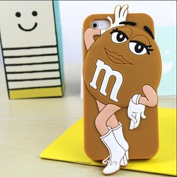 Iphone 5 (S) en 5 C  M&M Brown Girl