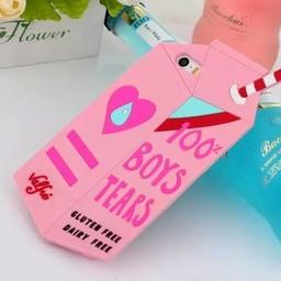 Iphone 5 (S) Siliconen hoesje BOYS TEARS pink
