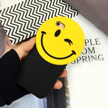 Iphone 5 (S) Siliconen hoesje Smiley