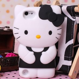 Ipod Touch 5 (G) en 6 (G)  Hello Kitty Zwart