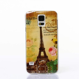 Samsung Galaxy S5 TPU Hoesje Paris Eiffel Tower