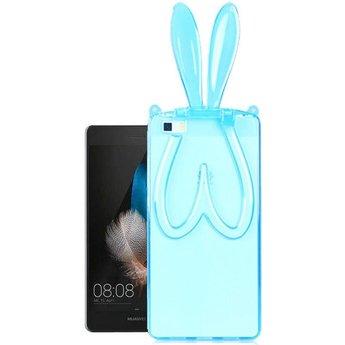 Huawei Ascend P8 Lite TPU Transparant hoesje Bunny Blauw