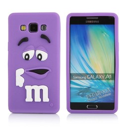 Samsung Galaxy A5 siliconen hoesje M&M Paars