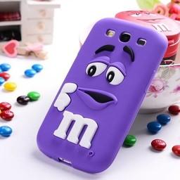 Samsung Galaxy A3 siliconen hoesje M&M Paars