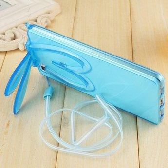 Iphone 5 (S) Transparant hoesje bunny Blauw